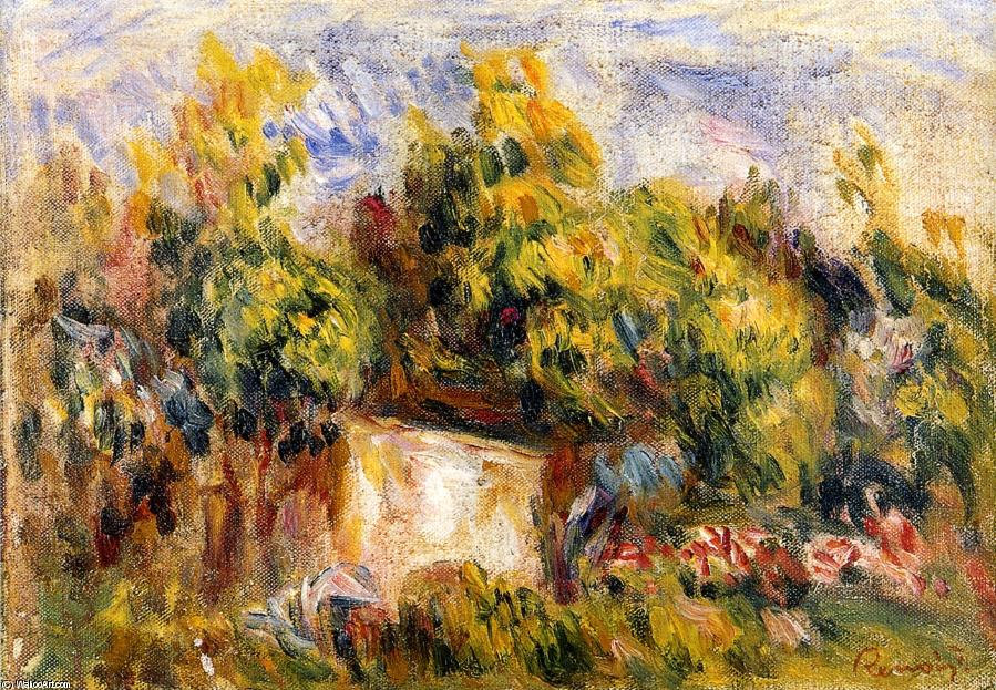 Order Paintings Reproductions | Landscape with Cabin by Pierre-Auguste Renoir | Most-Famous-Paintings.com