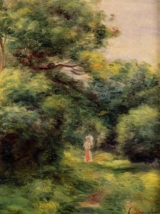 Pierre-Auguste Renoir - Lane in the Woods, Woman with a Child in Her Arms