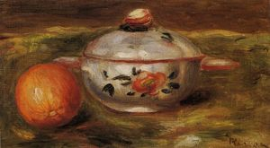 Pierre-Auguste Renoir - Still Life with Orange and Sugar Bowl