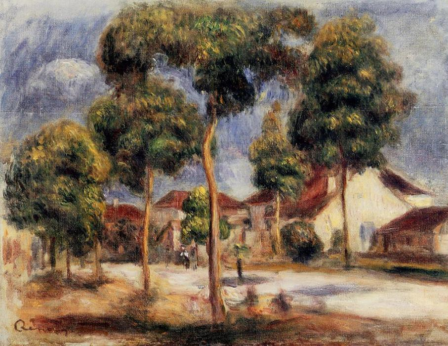 Order Museum Quality Copies | The Sunny Street by Pierre-Auguste Renoir | Most-Famous-Paintings.com