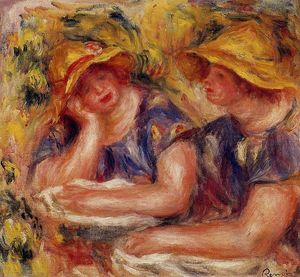 Pierre-Auguste Renoir - Two Women in Blue Blouses