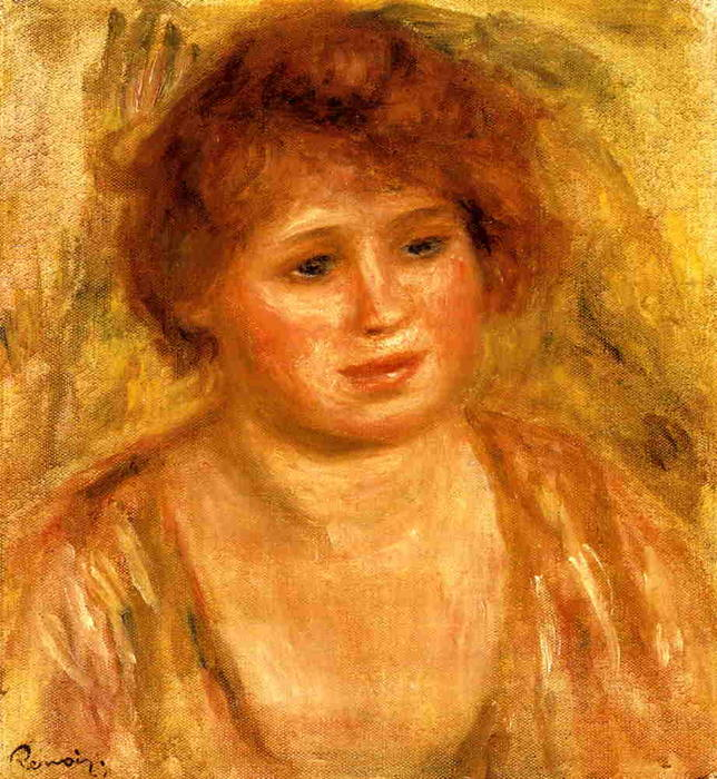 famous painting Woman's Head 2 of Pierre-Auguste Renoir