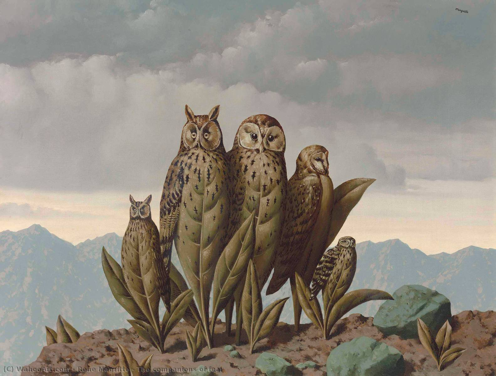 famous painting The companions of fear of Rene Magritte