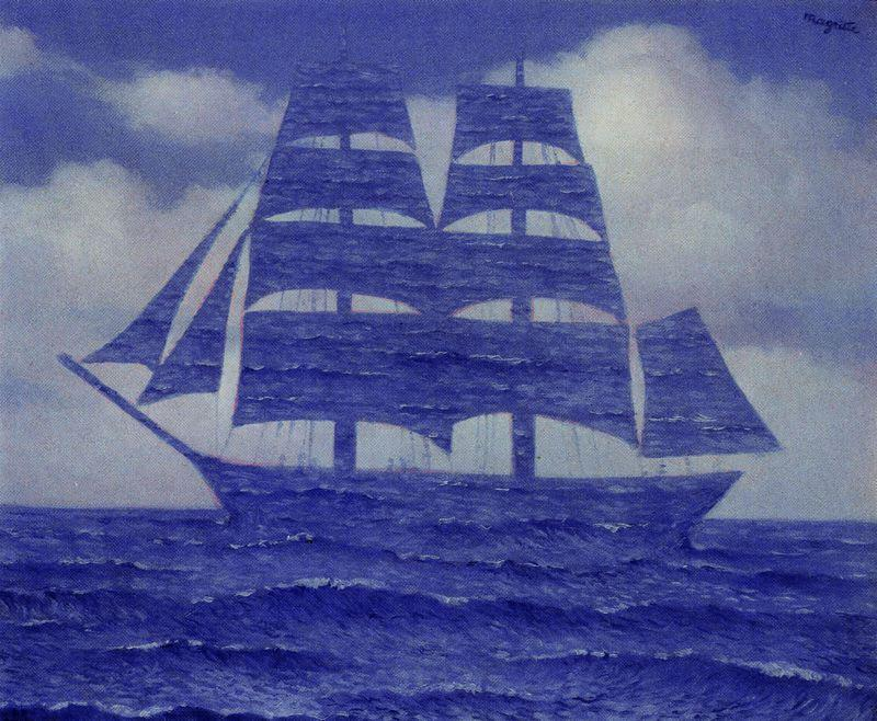 | The seductive by Rene Magritte | Most-Famous-Paintings.com