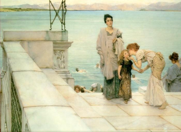 Buy Museum Art Reproductions | A Kiss by Lawrence Alma-Tadema | Most-Famous-Paintings.com