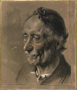 Adolph Menzel - Head of an Old Man