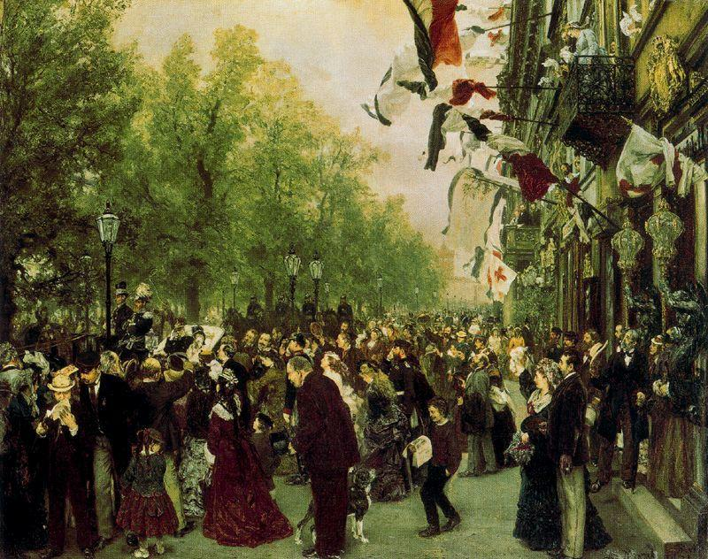 famous painting William I Departs for the Front, July 31, 1870 of Adolph Menzel