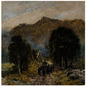 David Cox - A Funeral At Bettwys-Y-Coed Church, North Wales