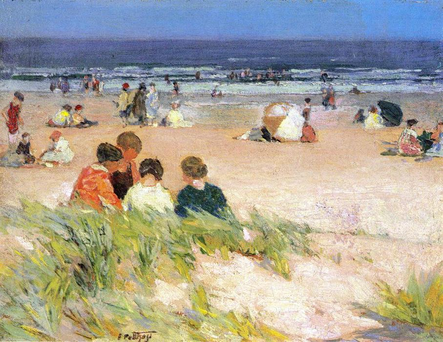 Buy Museum Art Reproductions | By the Shore by Edward Henry Potthast | Most-Famous-Paintings.com
