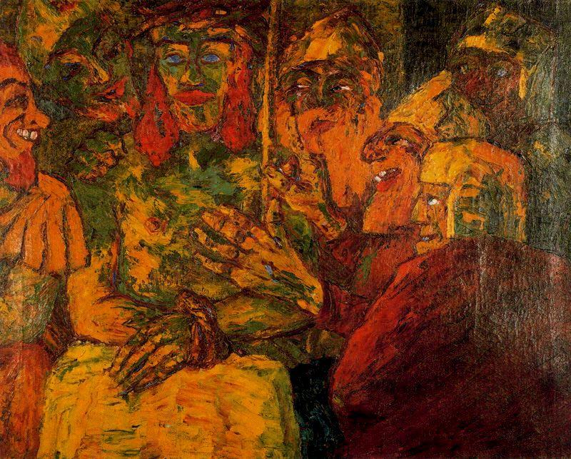 famous painting Reproach of Christ of Emile Nolde