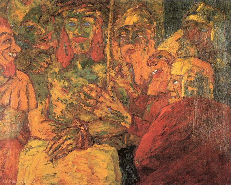 | The Mocking of Christ by Emile Nolde | Most-Famous-Paintings.com