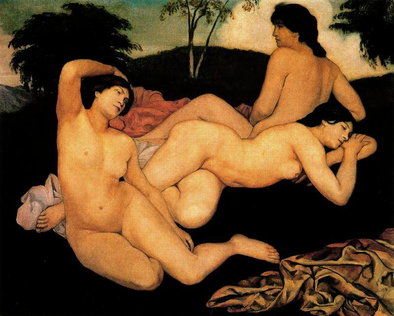 Order Reproductions | After the Bath, the Nymphs by Emile Bernard | Most-Famous-Paintings.com