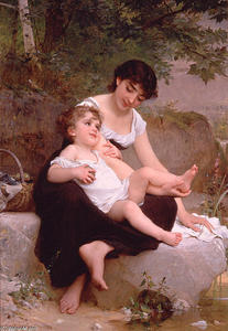 Emile Munier - Mother and Child