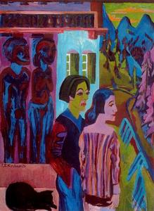 Ernst Ludwig Kirchner - before Sunrise