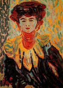 Ernst Ludwig Kirchner - Doris with high neck