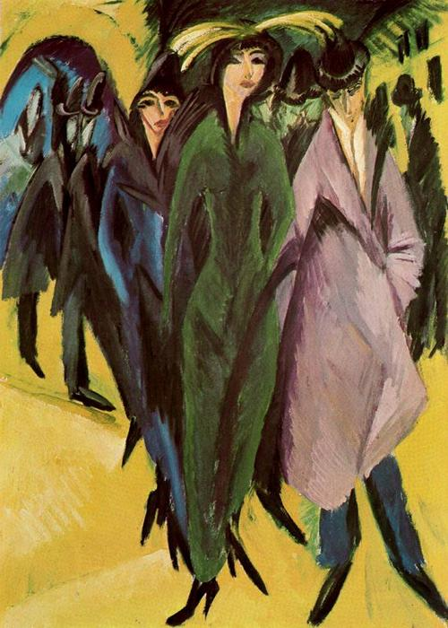famous painting Women in the street of Ernst Ludwig Kirchner