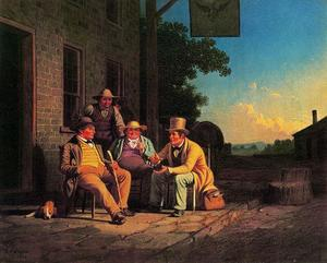 George Caleb Bingham - Cavassing for a Vote or Candidate Electioneering