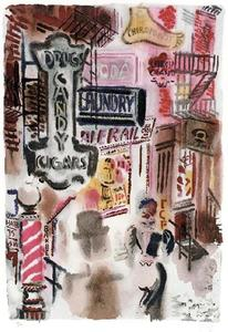 George Grosz - Bagdad-on-the-Subway, New York, The Print Club