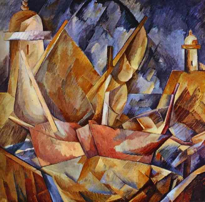 | Harbor in Normandy by Georges Braque | Most-Famous-Paintings.com