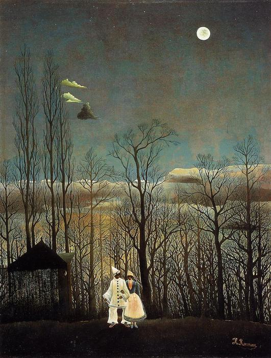 Buy Museum Art Reproductions | A Carnival Evening by Henri Emilien Rousseau | Most-Famous-Paintings.com