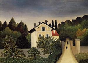Henri Julien Félix Rousseau (Le Douanier) - Landscape on the Banks of the Oise, Area of Chaponval