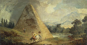 Hubert Robert - Pyramid of Cestius