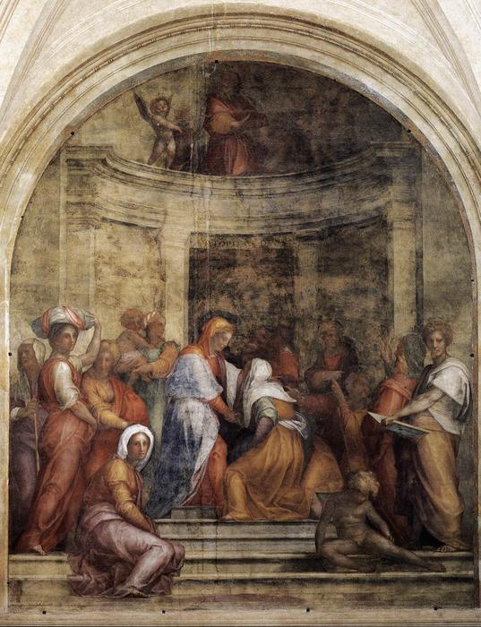 famous painting Visitation of Jacopo Carucci (Pontormo)