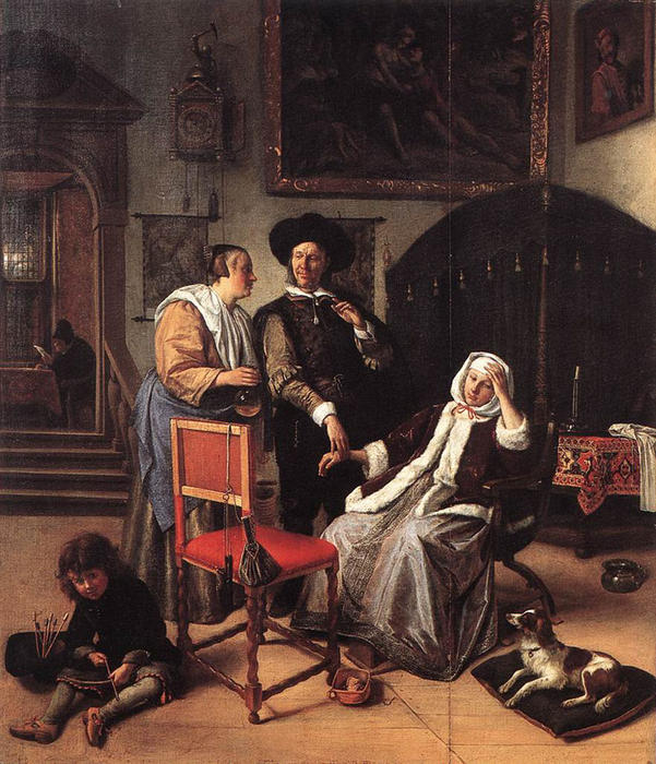 famous painting Doctor's Visit of Jan Steen