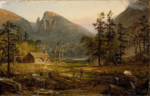 Jasper Francis Cropsey - Pioneer's Home, Eagle Cliff, White Mountains