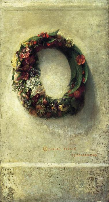 famous painting Wreath of Flowers of John La Farge
