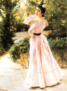 José Villegas Cordero - The Pink Dress