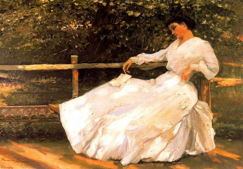 Order Reproductions | Women In The Garden by José Villegas Cordero | Most-Famous-Paintings.com