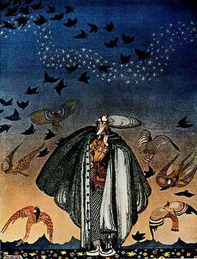 famous painting Such a Large Flock of Birds Swept Down of Kay Rasmus Nielsen