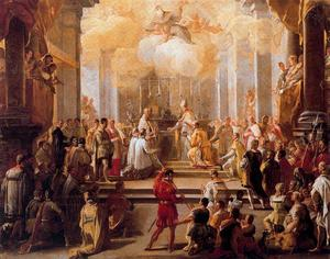 Luca Giordano - Dedication of the church of Monte Cassino