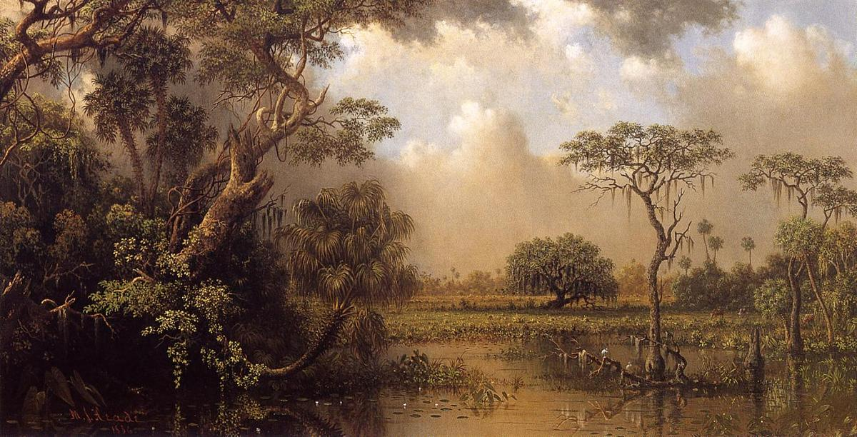 Order Reproductions | The Great Florida Marsh by Martin Johnson Heade | Most-Famous-Paintings.com