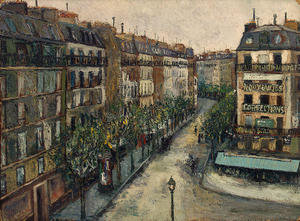 Maurice Utrillo - Rue Custine at Montmartre