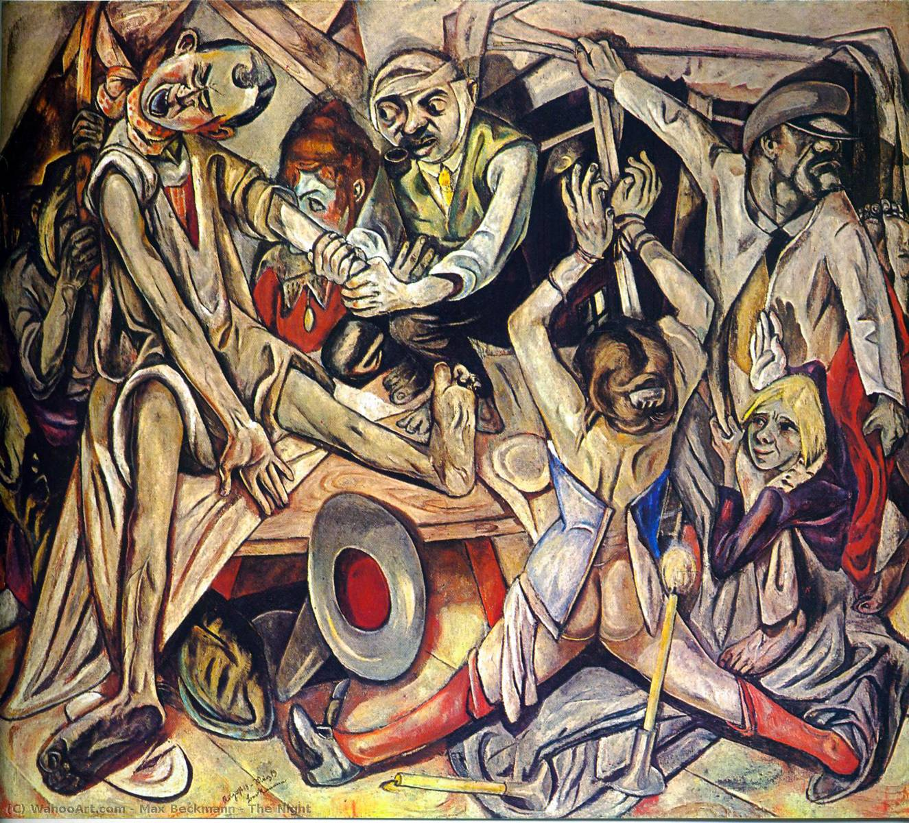 Order Museum Quality Copies | The Night by Max Beckmann | Most-Famous-Paintings.com