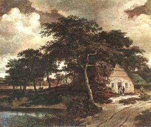 Meindert Hobbema - Landscape with a Hut