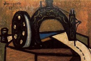 Oscar Dominguez - The sewing machine