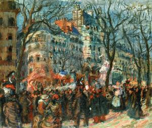 Raoul Dufy - Carnival on the Grands Boulevards