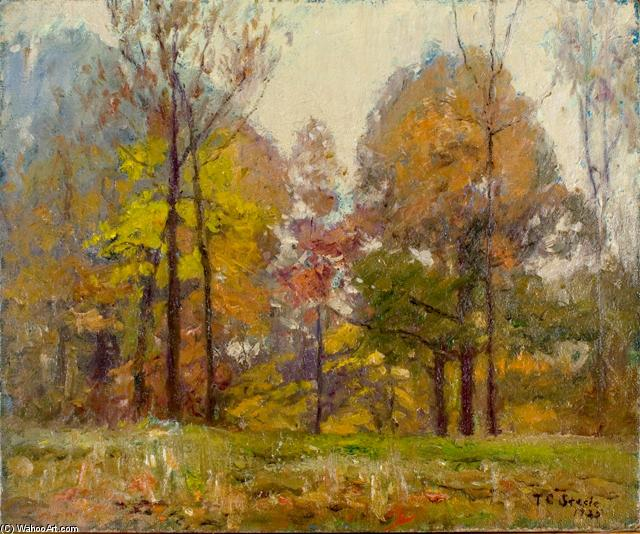 famous painting An October Day (Autumn) of Theodore Clement Steele