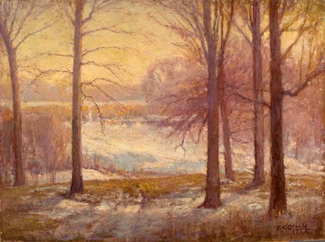famous painting Winter Scene of Theodore Clement Steele