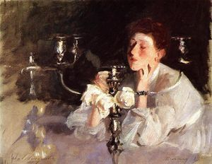 John Singer Sargent - The Candelabrum (also known as Lady with Cancelabra or The Cigarette)