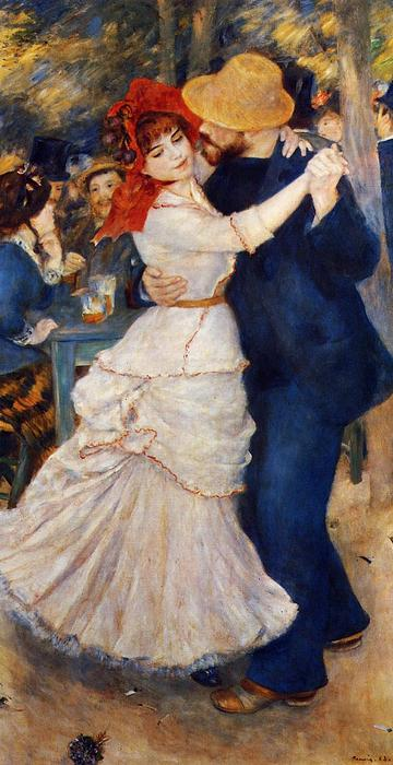famous painting Dance at Bougival of Pierre-Auguste Renoir
