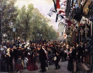 Adolph Menzel - Departure of King William I for the Army, 31 July 1870