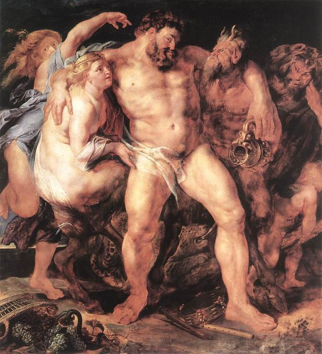 famous painting The Drunken Hercules of Peter Paul Rubens
