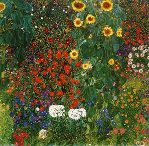 Gustav Klimt - Farm Garden with Sunflowers
