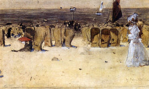 Pieter Florentius Nicolaas Jacobus Arntzenius - Figures On The Beach, Scheveningen