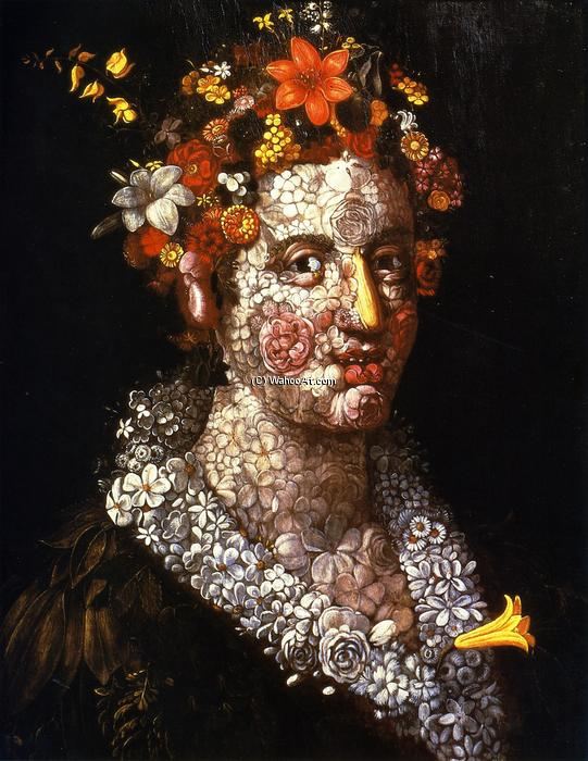 Buy Museum Art Reproductions | Floral Still LIfe by Giuseppe Arcimboldo | Most-Famous-Paintings.com