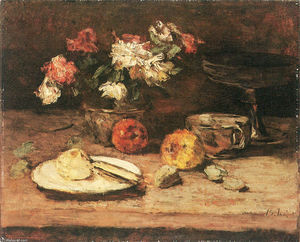 Carl Eduard Schuch - Flowers and Apples